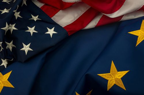 USA `| Flag | Europe | America | EU